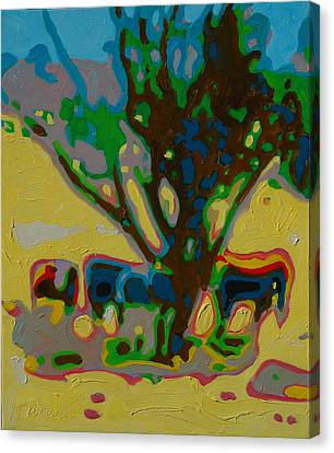 Four Cows Under Tree Oil Painting By Bertram Poole Canvas Print