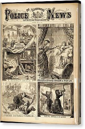 Four Crime Scenes Canvas Print by British Library