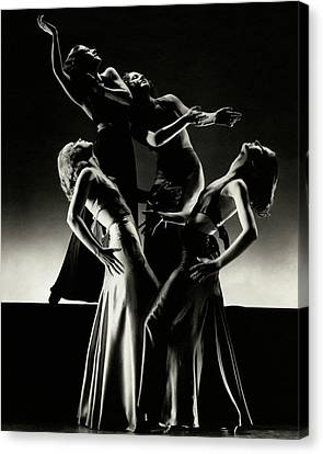 Clayton Canvas Print - Four Dancers Of The Albertina Rasch Ballet Group by Edward Steichen