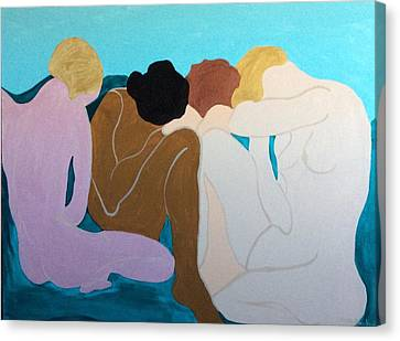 Four Canvas Print by Erika Chamberlin