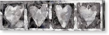 Four Hearts Canvas Print by Carol Leigh