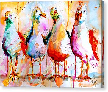Four In A Row Canvas Print by Steven Ponsford