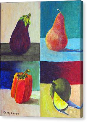 Four In One Canvas Print by Sandy Linden