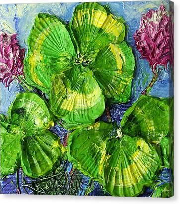 Four Leaf Clovers Canvas Print