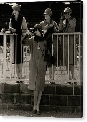 Four Models At The Belmont Race Track Canvas Print