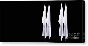 Paper Airplanes Canvas Print - Four Paper Airplanes by Edward Fielding