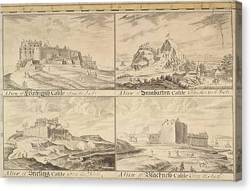 Four Scottish Castles Canvas Print by British Library