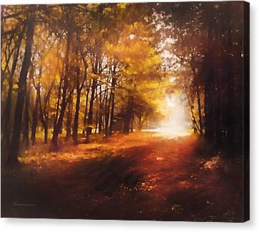 Four Seasons Autumn Impressions At Dawn Canvas Print