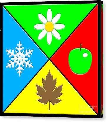 Canvas Print featuring the digital art Four Seasons by Cristophers Dream Artistry
