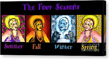 Four Seasons In A Row Canvas Print
