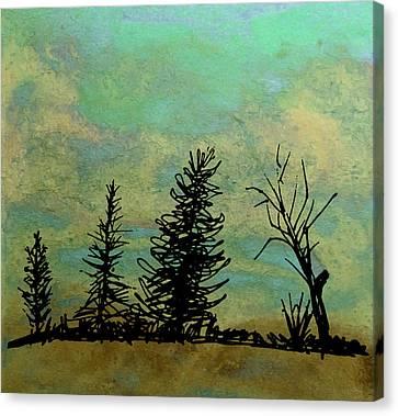 Four Trees  Canvas Print by R Kyllo