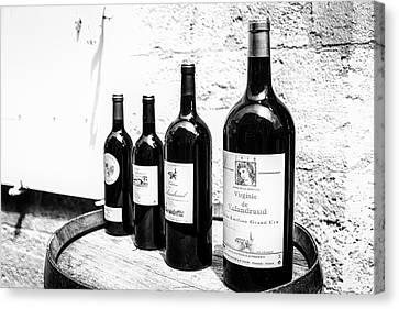 Vino Canvas Print - Four Wine Bottles by Georgia Fowler