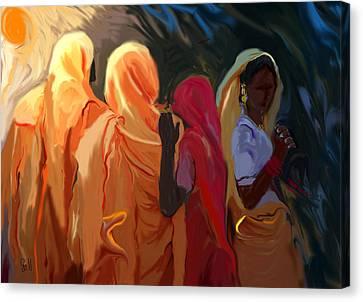Four Women Canvas Print