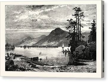 Thomas Moran Canvas Print - Fourteen-mile Island by American School