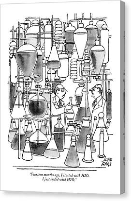 Experiment Canvas Print - Fourteen Months Ago by Joseph Farris