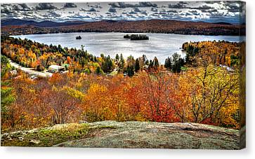 Fourth Lake From Above Canvas Print by David Patterson