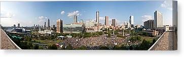 Fourth Of July Festival, Centennial Canvas Print by Panoramic Images