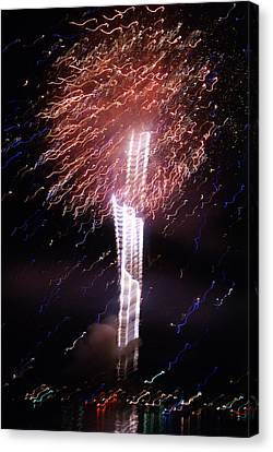 Fourth Of July Grand Lake Co 2007 Canvas Print by Jacqueline Russell