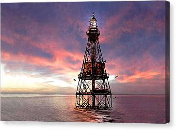 Fowey Rocks Lighthouse Image Canvas Print by Duane McCullough