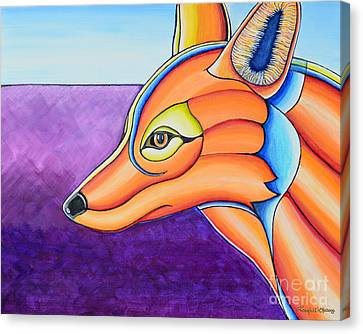 Arcylic Canvas Print - Fox 1 by Joseph J Stevens