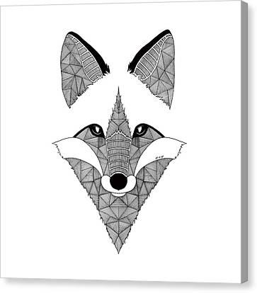 Fox Art Et Be Canvas Print by Art Et Be