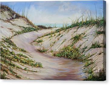 Fox Dunes Canvas Print by AnnaJo Vahle