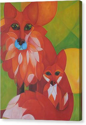 Fox Haven Canvas Print by Denise Fisher