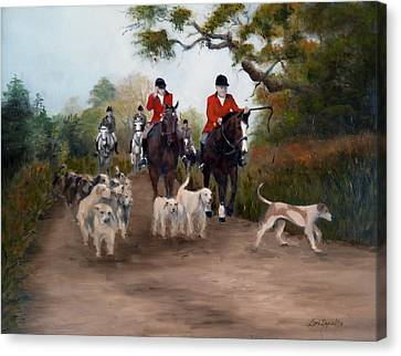 Fox Hunt Canvas Print by Lori Ippolito
