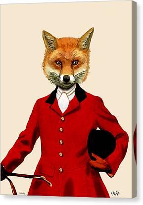 Fox Hunter 2 Portrait Canvas Print by Kelly McLaughlan