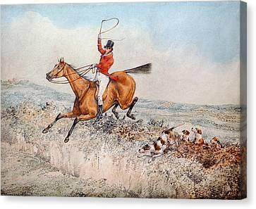 Fox Hunting Canvas Print by Henry Thomas Alken