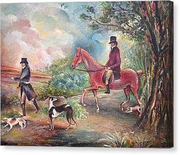 Fox Hunting Canvas Print by Egidio Graziani