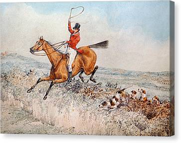 Fox Hunting Canvas Print by Henry Thomas Alken