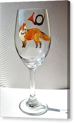 Fox Hunting On Glass Canvas Print by Pauline Ross