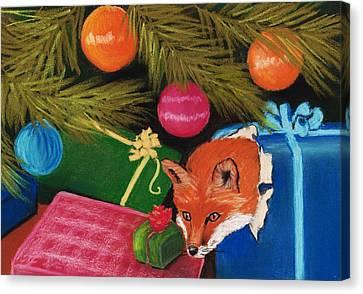 Fox In A Box Canvas Print by Anastasiya Malakhova