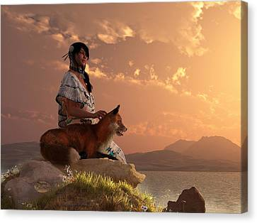 Fox Maiden Canvas Print by Daniel Eskridge