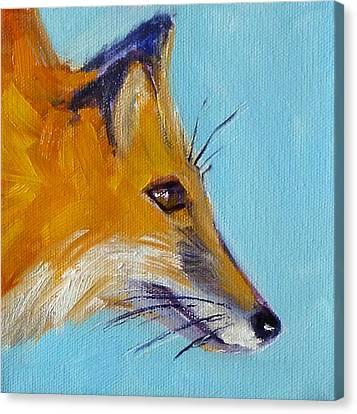 Fox Canvas Print by Nancy Merkle