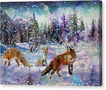 Fox Storm Canvas Print