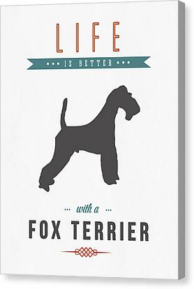 Fox Terrier Canvas Print - Fox Terrier 01 by Aged Pixel