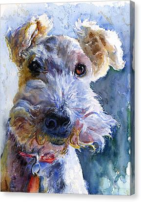 Fox Terrier Canvas Print - Fox Terrier Full by John D Benson