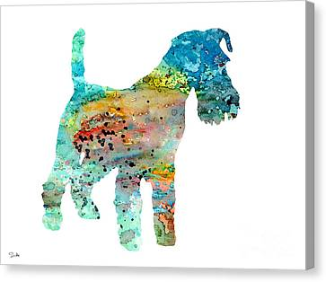 Fox Terrier Canvas Print - Fox Terrier  by Watercolor Girl