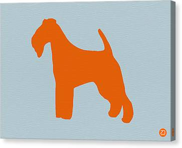 Fox Terrier Canvas Print - Fox Terrier Orange by Naxart Studio