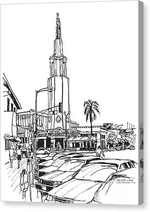 Fox Theater Westwood Village California Canvas Print