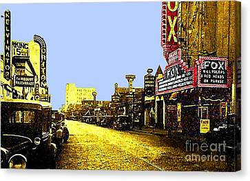 Fox Theatre In Hackensack N J In 1935 Canvas Print