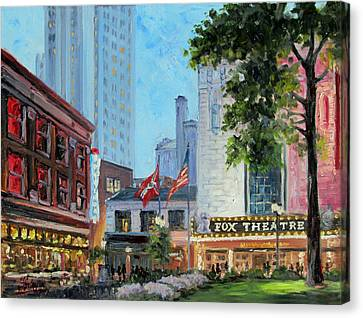 Fox Theatre Saint Louis Grand Boulevard Canvas Print by Irek Szelag