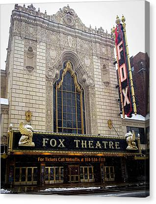 Gargoyle Lions Canvas Print - Fox Theatre St. Louis by Cathy Smith