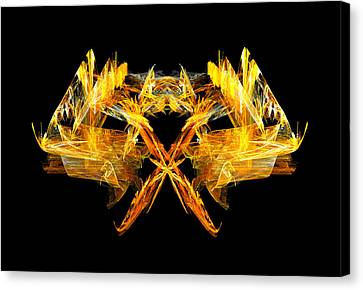 Canvas Print featuring the digital art Foxfire by R Thomas Brass