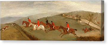 Foxhunting The Few Not Funkers, Richard Barrett Davis Canvas Print by Litz Collection