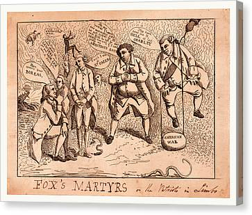 Foxs Martyrs Or The Patriots In Limbo, England  Publisher Canvas Print