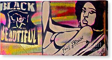 Foxy Brown Canvas Print by Tony B Conscious