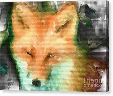 Foxy Girl Canvas Print by Ruby Cross